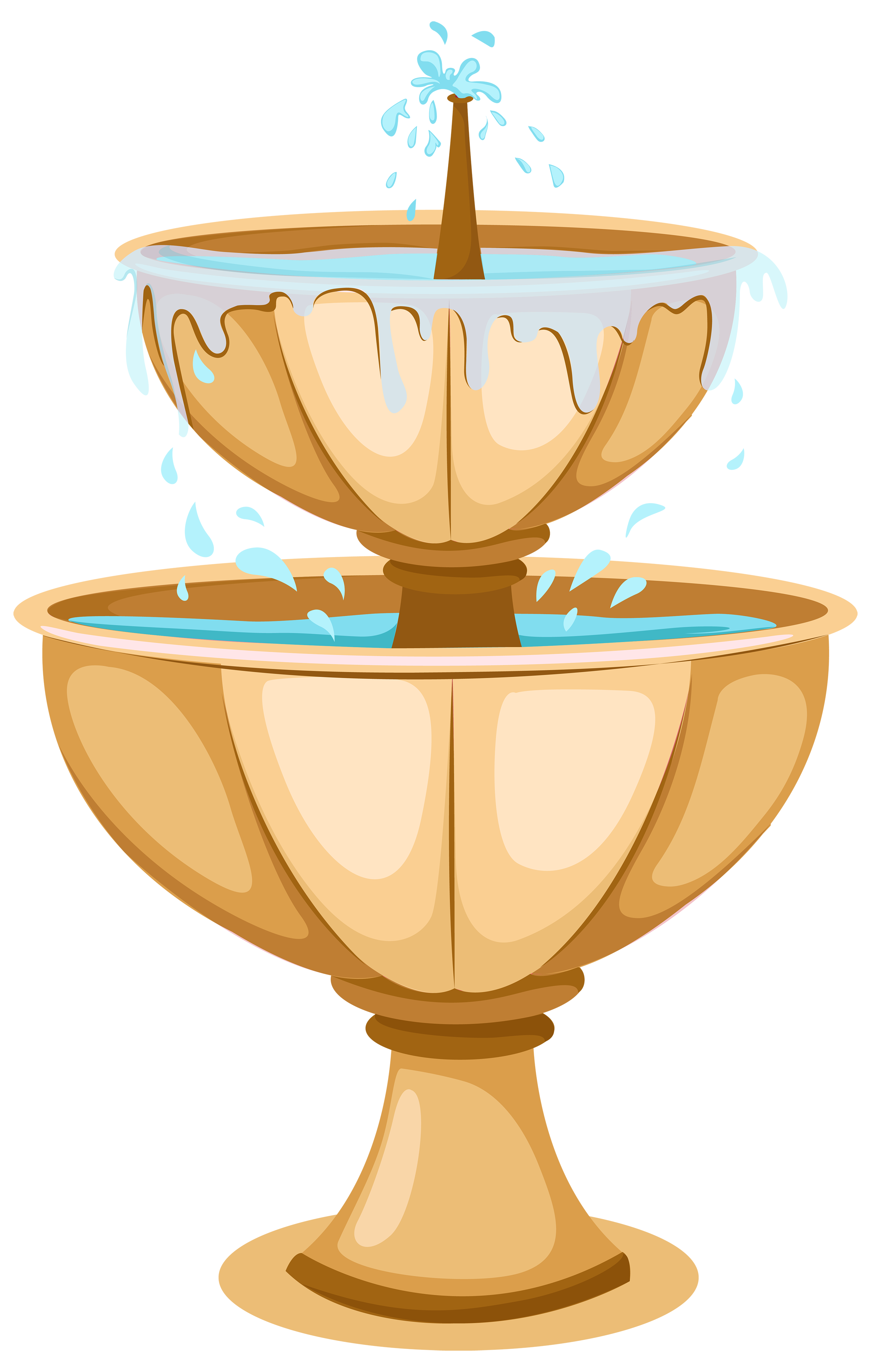 Garden Fountain PNG Clipart.