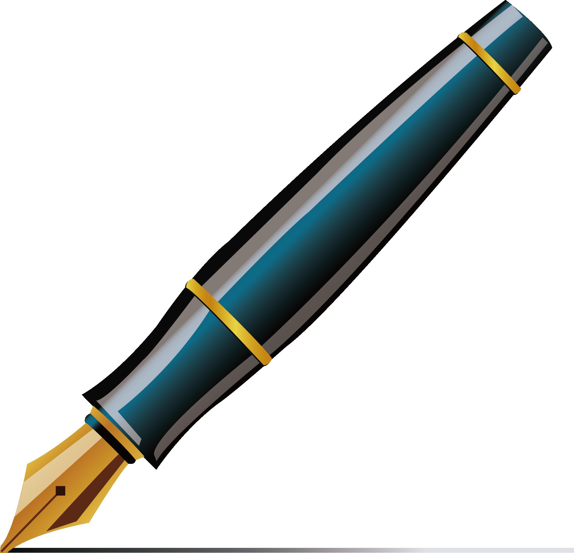 HD Fountain Pen Ballpoint Pen Quill Clip Art.