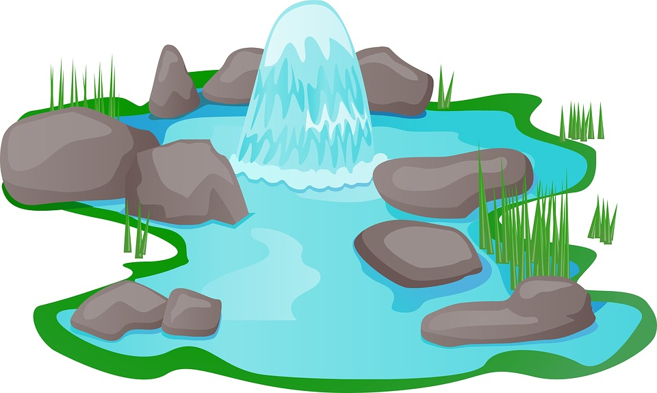 Free illustration: Pond, Water, Park, Fountain, Stones.