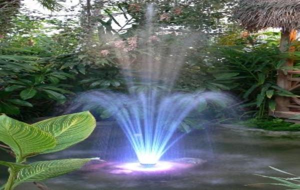 Clipart water fountain in yard.