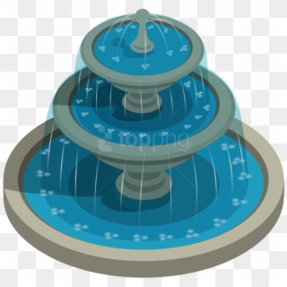 Free Fountain Top View Png Transparent Images.