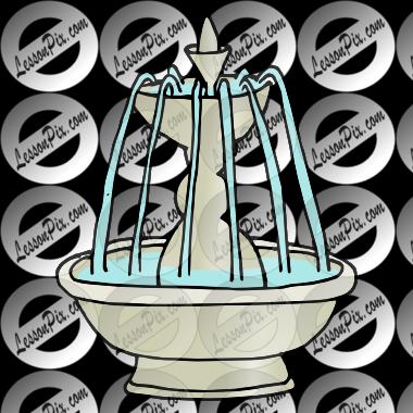 Bird Fountain Clipart.