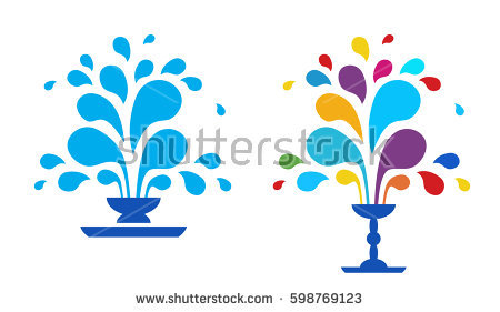 Fountain Vector Stock Images, Royalty.