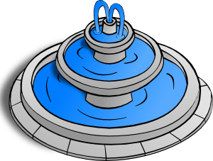 Fountains clipart.