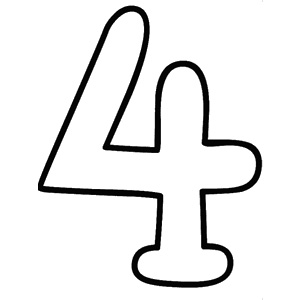 Number four clip art.