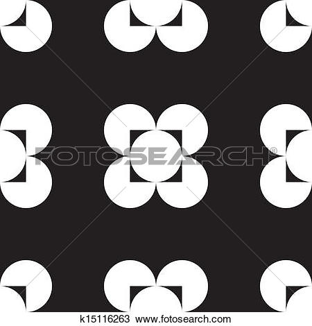 Clipart of Abstract four corner hole square circle game background.