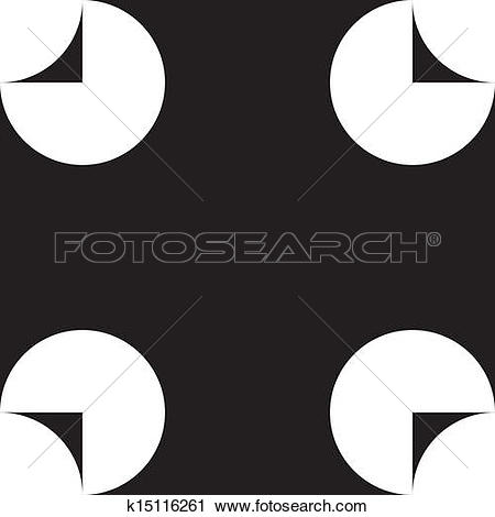 Clipart of Abstract four corner hole square background k15116261.