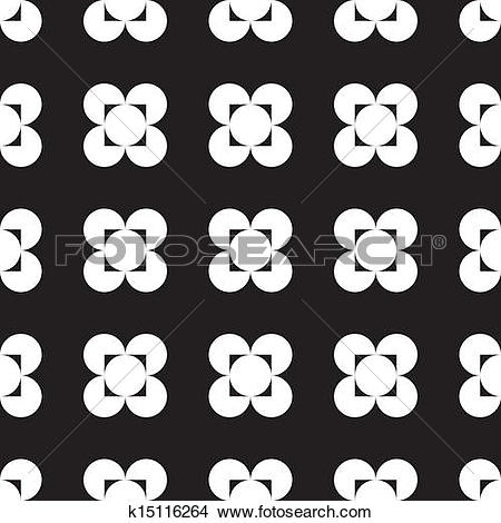 Clipart of Abstract four corner hole square circle game seamless.