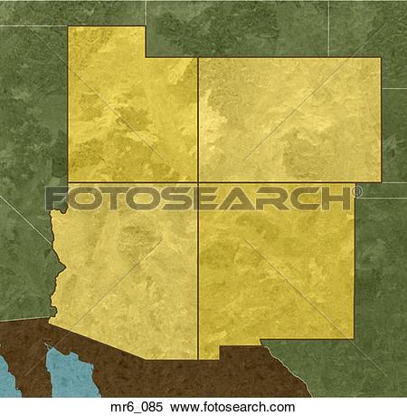 Stock Images of arizona, four corners, colorado, atlas, 4 corners.