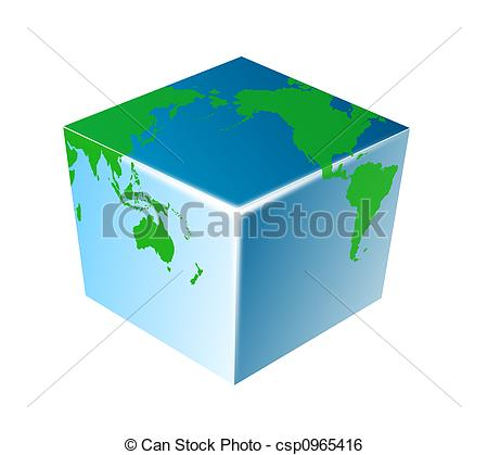 Stock Illustration of Four corners of the world.