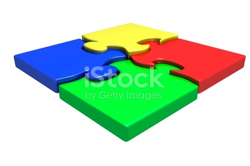 Four Cornered Puzzle stock photo 174657553.