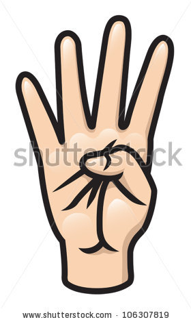Four Finger Clipart.