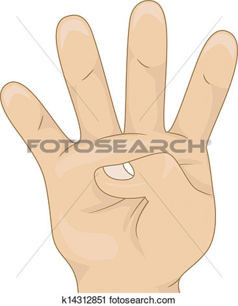 vier finger clipart vier finger clipart clipart of four fingers up.