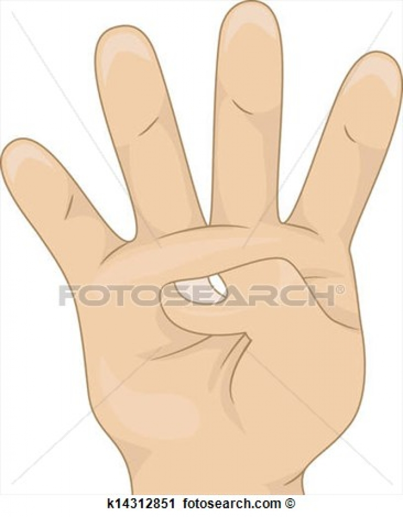 4 finger clipart 4 finger clipart clipart of four fingers up hand.