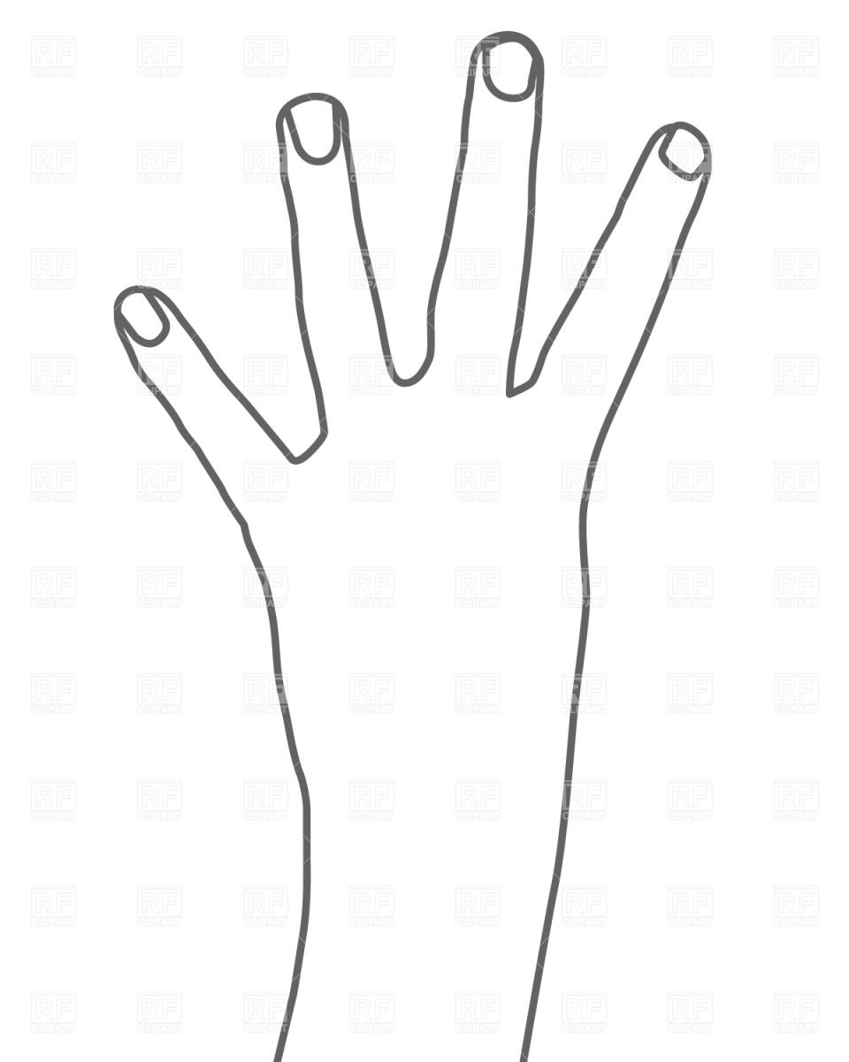 Four Fingers Clipart.
