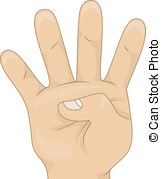 Four fingers Stock Illustration Images. 989 Four fingers.