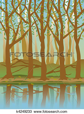 Clipart of Four Seasons Forest.