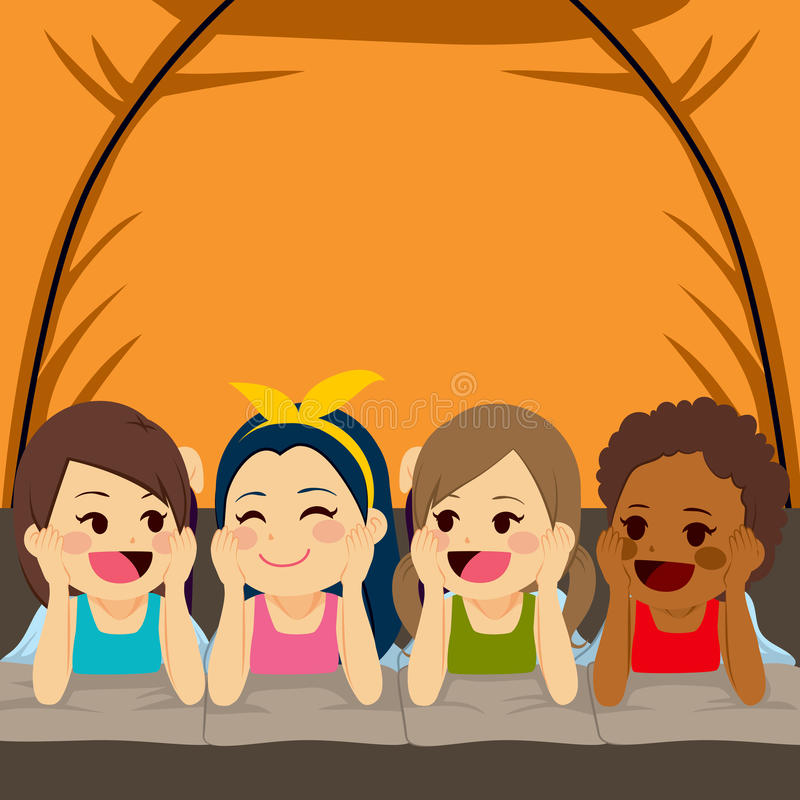 Four Friends Stock Illustrations.