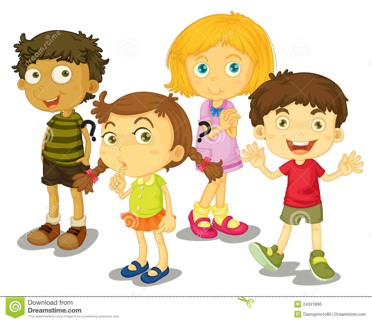 4 Friends Clipart.