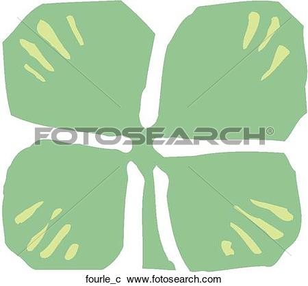 Clipart of Four Leaf Clover fourle_c.