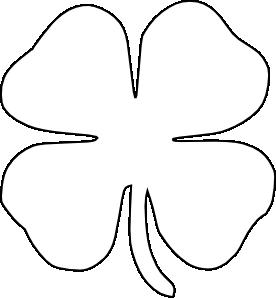 4H clover template.