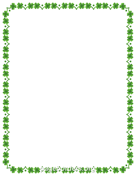 Four Leaf Clover Border: Clip Art, Page Border, and Vector Graphics.