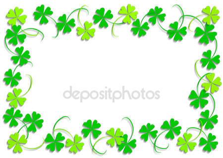 Four leaf clover border Stock Photos, Royalty Free Four leaf.