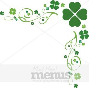 Four Leaf Clover Menu Templates.