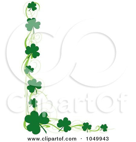 Clipart Illustration of a Green St Patricks Day Stationery.