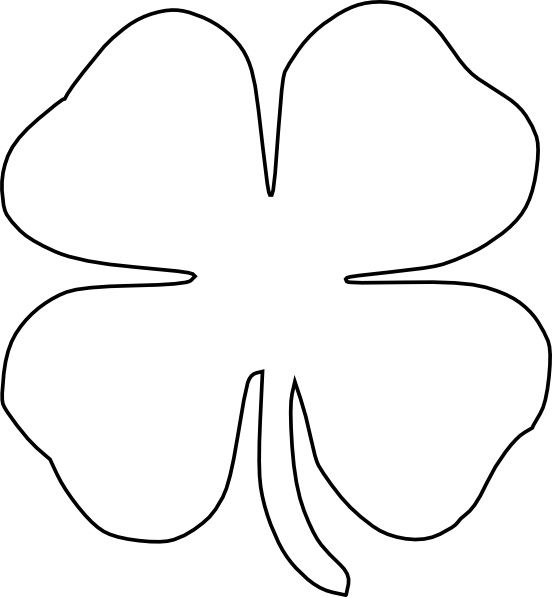 Four Leaf Clover Vector clip art Free vector in Open office.