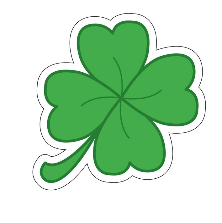 FOUR LEAF CLOVER Sticker.