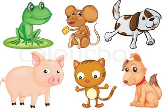 Four Legged Animals Clipart.