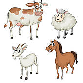 Animals with 2 legs clipart.