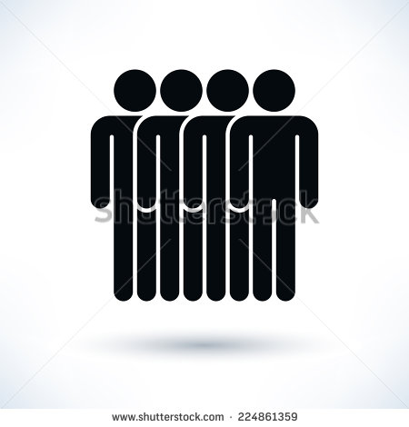 Four people clipart.