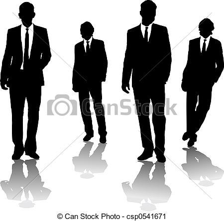 Clipart of business men.