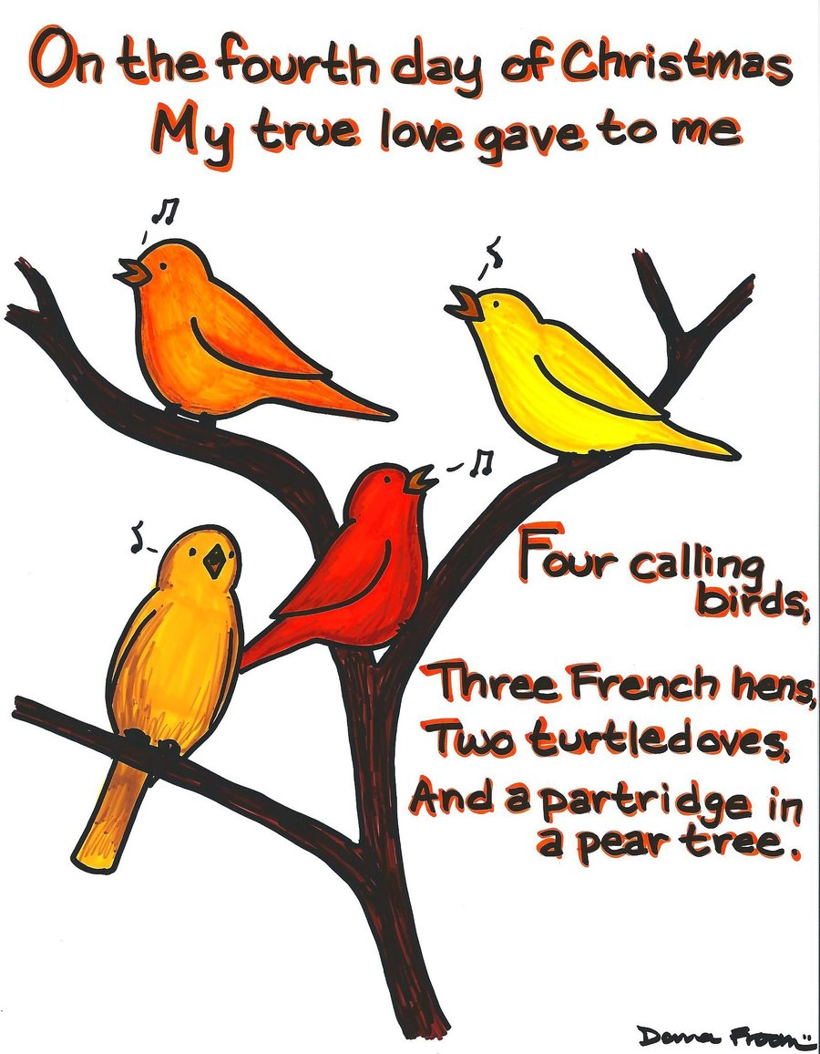Similiar Four Calling Birds Clip Art Keywords.