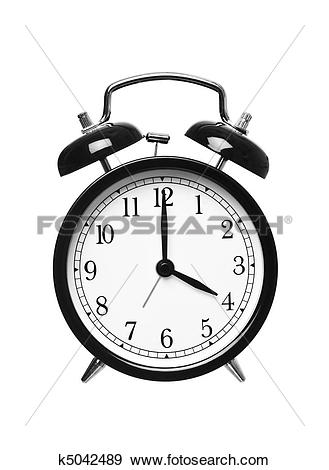Stock Photograph of Alarm clock shows four o`clock k5042489.
