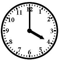 Four o'clock clipart.