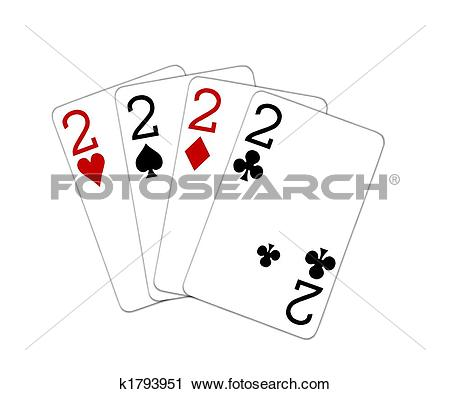 Clipart of four of a kind deuces k1793951.