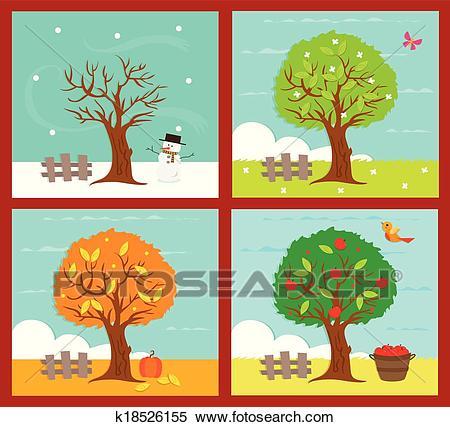The Four Seasons Clipart.