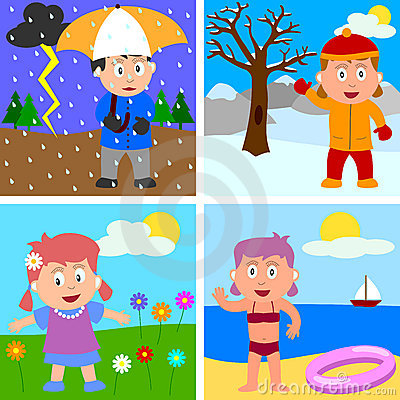 Four seasons clipart free.