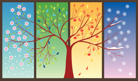 Four seasons clip art.