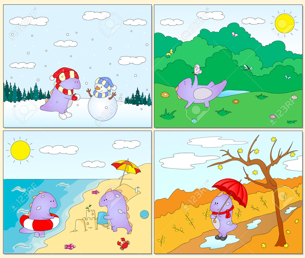 Four seasons clipart 20 free Cliparts | Download images on ...