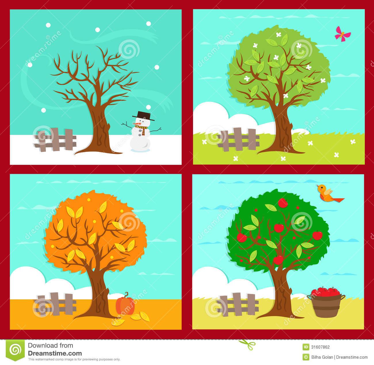 The four seasons clipart #10