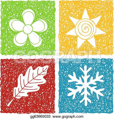 The four seasons clipart #3