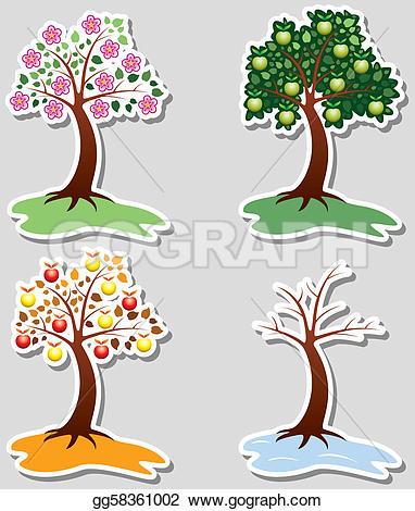 Royalty Free Four Seasons Clip Art.