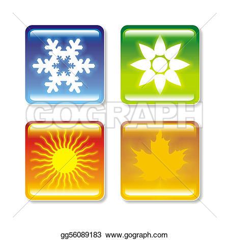 Four Seasons Stock Illustrations.
