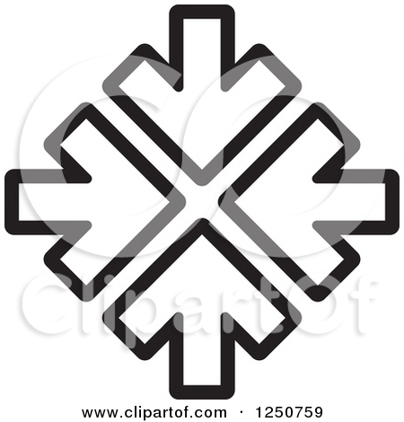 Clipart of a Compass Rose Direction Icon.