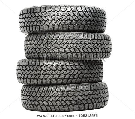 Car clipart black and white showing all four tires.