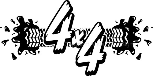 4x4 Mud Tire Track 4wd Four Wheel Drive Off Road Car Stickers.